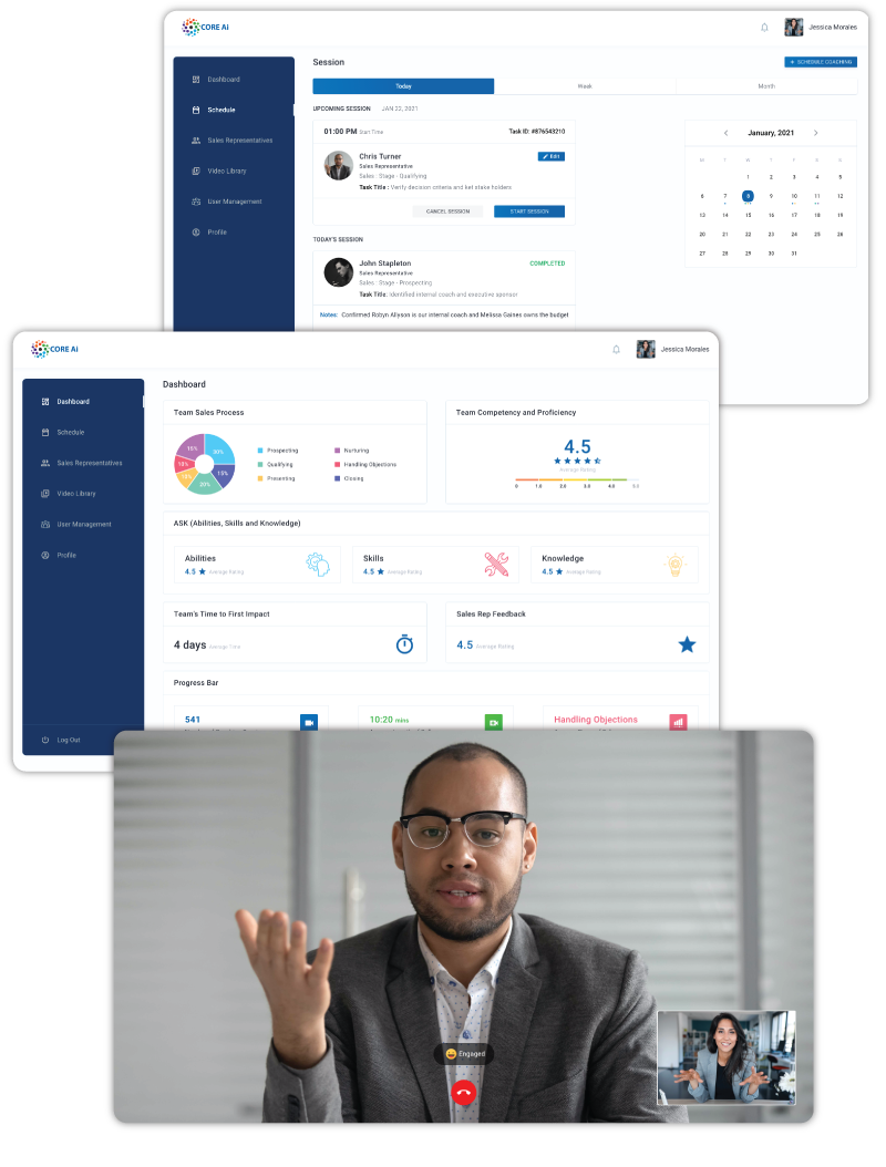 CORE Ai How it Works Sales Manager Desktop